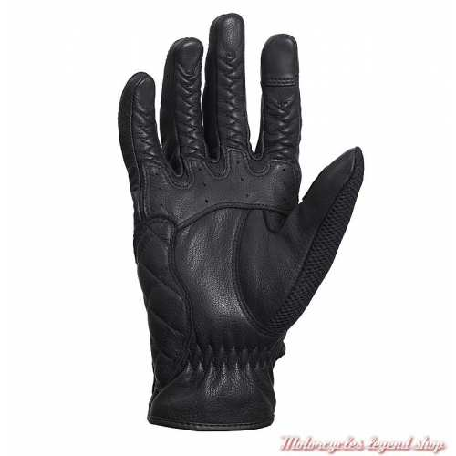 Gants mesh Raven Triumph, noir, maille et cuir, paume, MGVS20115