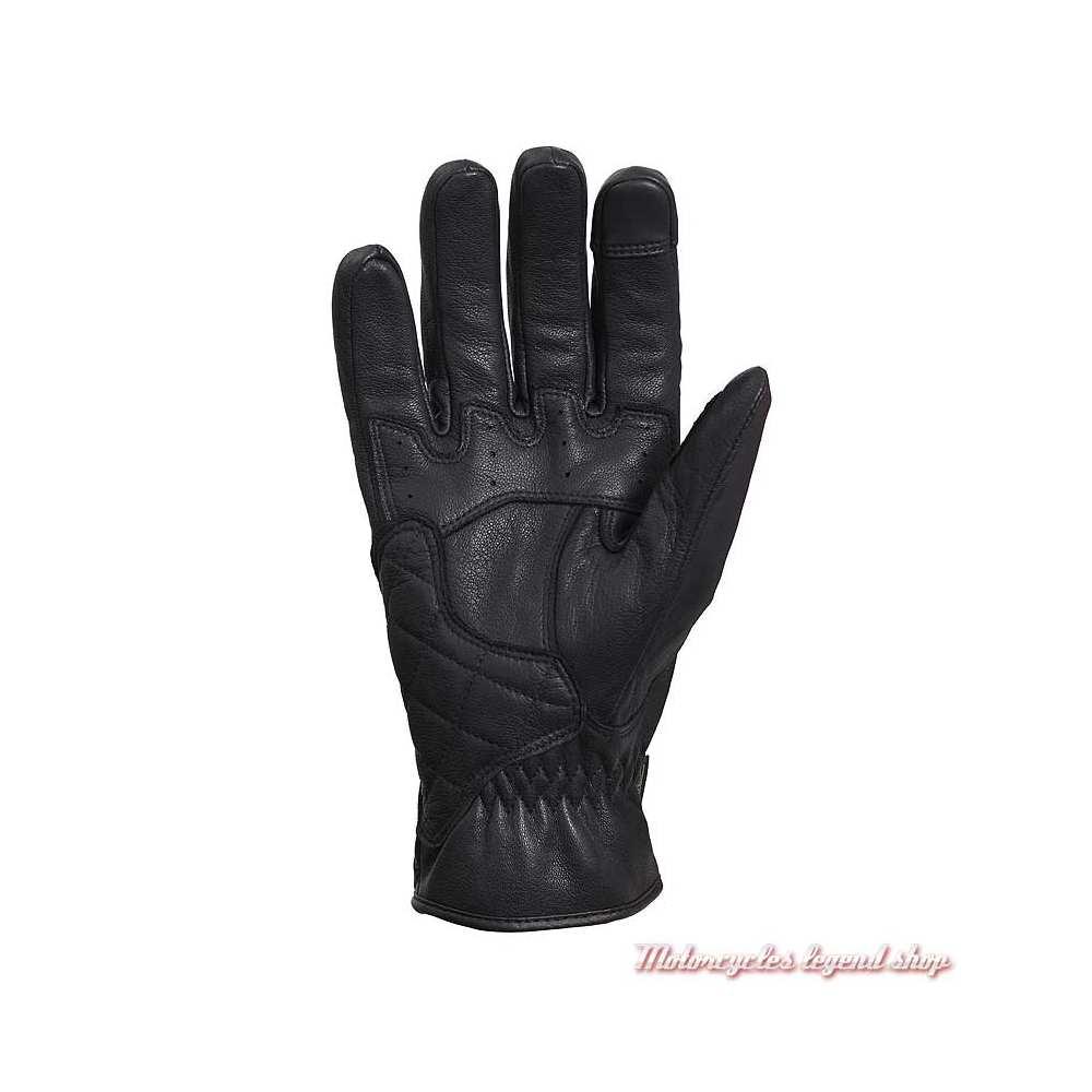 Gants cuir Raven Goretex Triumph, noir, paume, MGVS20117