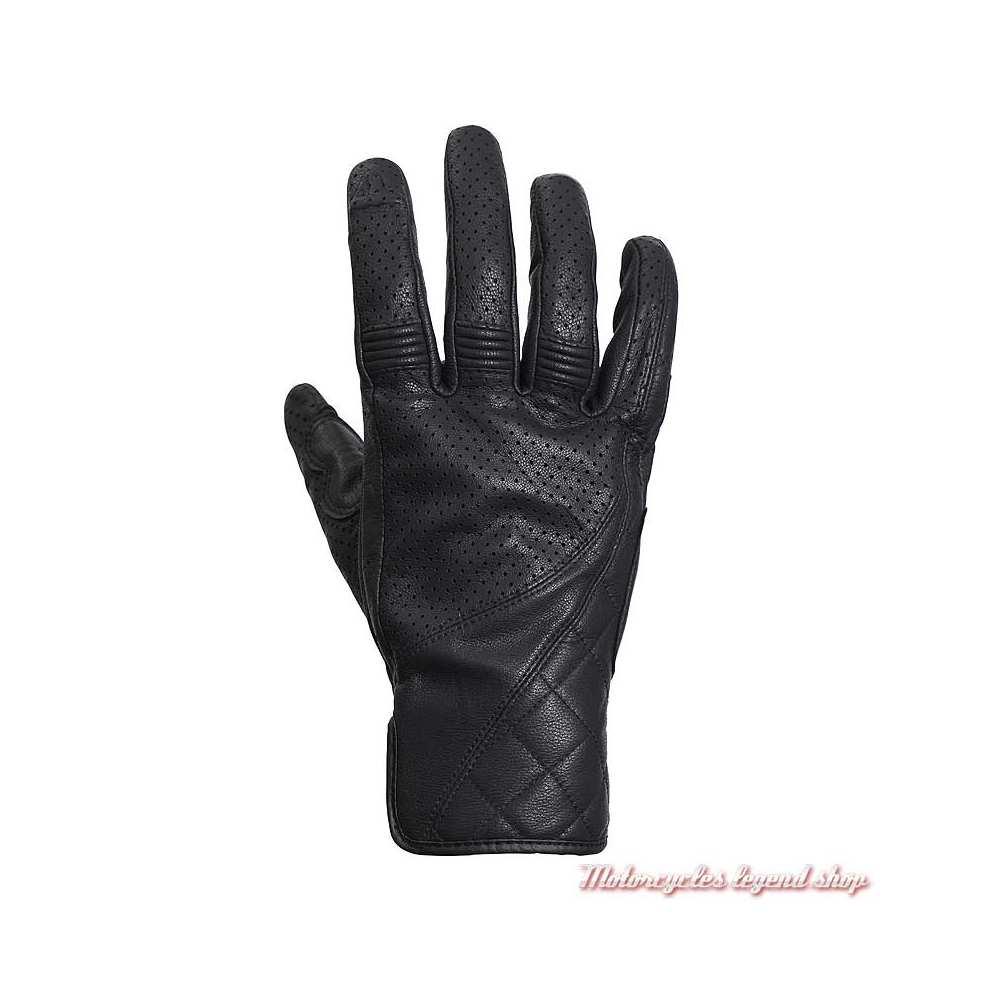 Gants été cuir Banner black Triumph, microperforé, MGVS20118