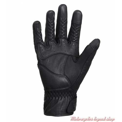 Gants été cuir Banner black Triumph, microperforé, paume, MGVS20118