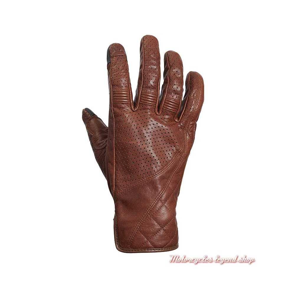 Gants été cuir Banner brown Triumph, micro perforé, MGVS20119