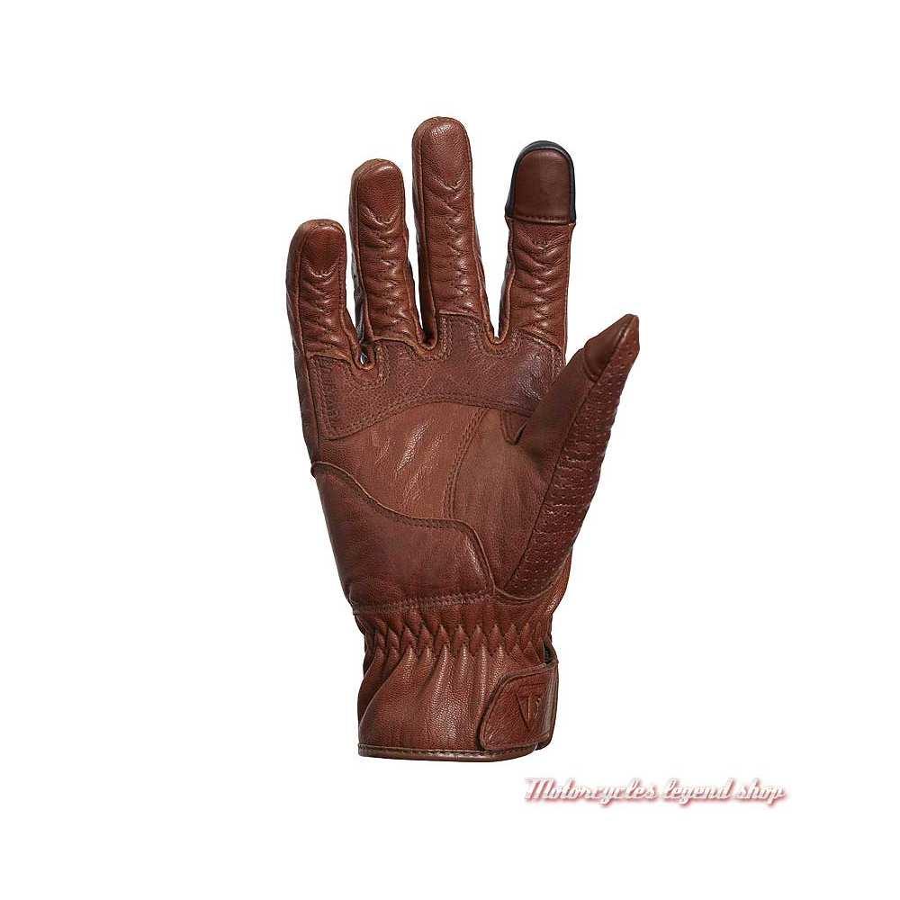 Gants été cuir Banner brown Triumph, micro perforé, paume, MGVS20119