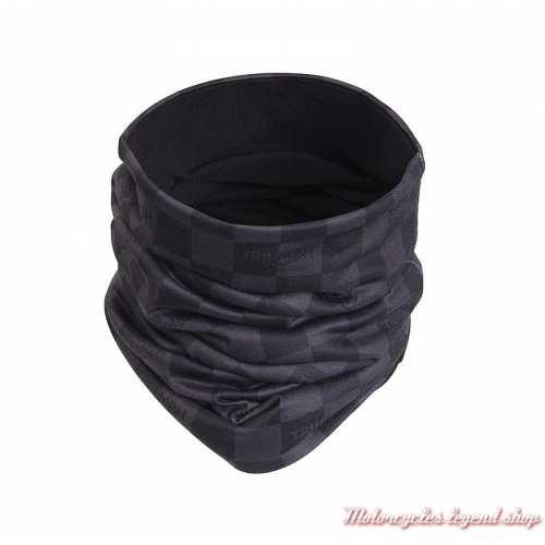 Tour de cou Tread Triumph, damier, noir, gris, logo, polyester, MTUS20305