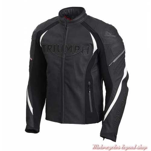 Blouson cuir Triple Triumph homme, noir, sport, TriStretch, MLPS20530