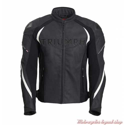 Blouson cuir Triple Triumph homme, noir, sport, TriStretch, face, MLPS20530