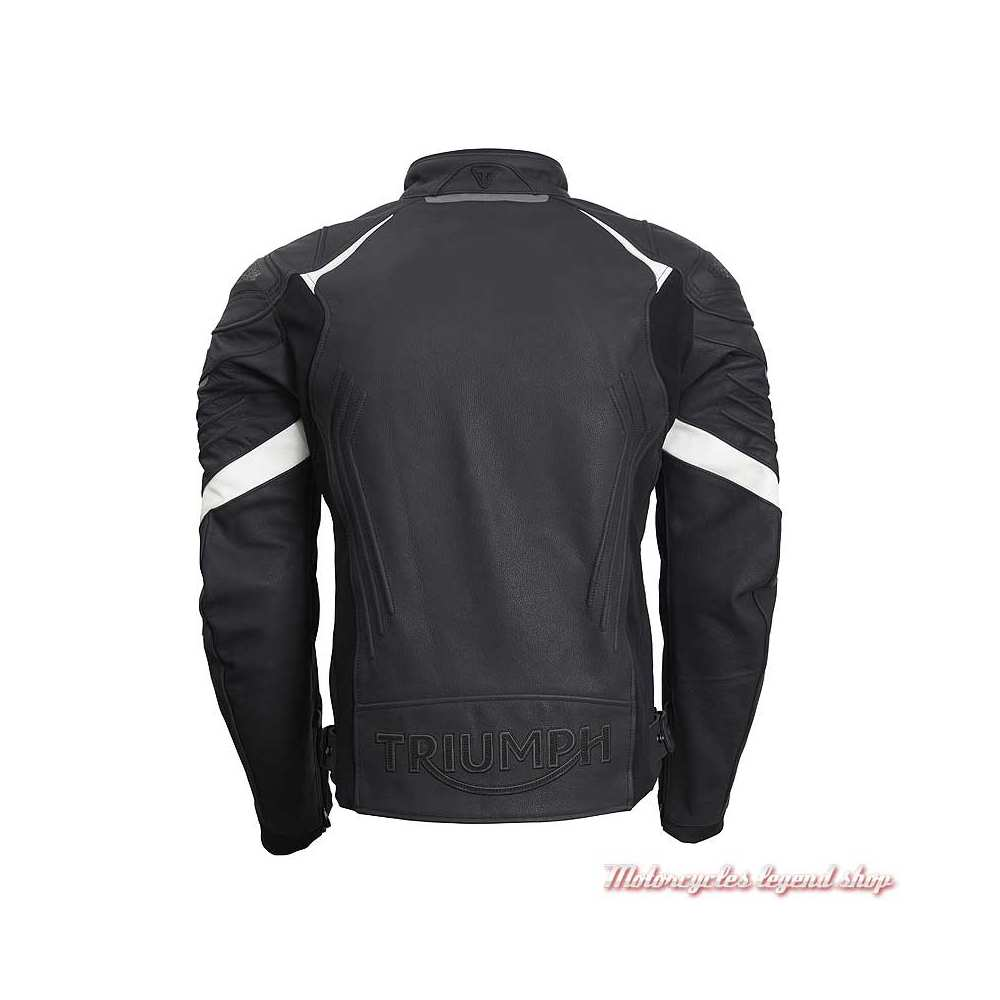 Blouson cuir Triple Triumph homme, noir, sport, TriStretch, dos, MLPS20530