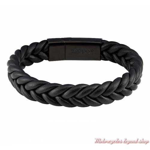 Bracelet cuir Zippo