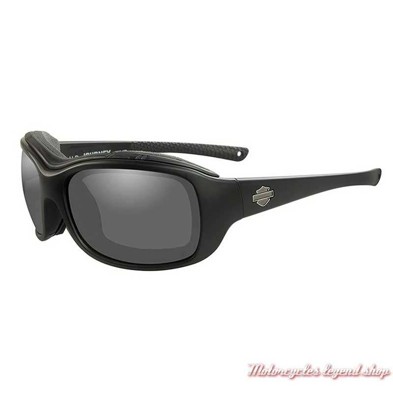 Lunettes solaire polarisé Journey Harley-Davidson, noir mat, cavité intérieur amovible, HDJNY04