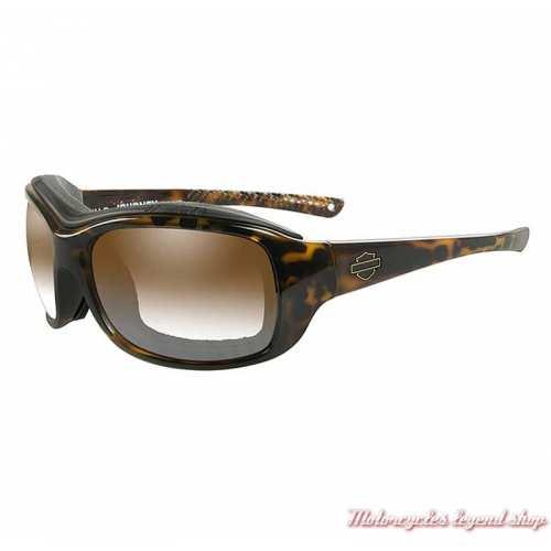 Lunettes jour/nuit Journey Harley-Davidson, tortoise, brun, cavité intérieur amovible, HDJNY08