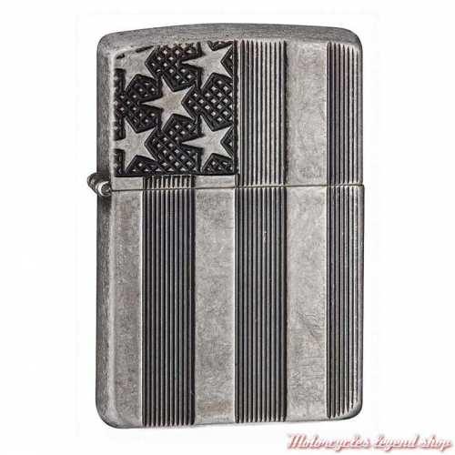 Zippo drapeau U.S.A. métal brossé, 60001154