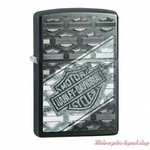 Zippo Bar & Shield Harley-Davidson, métal noir mat, 60004456