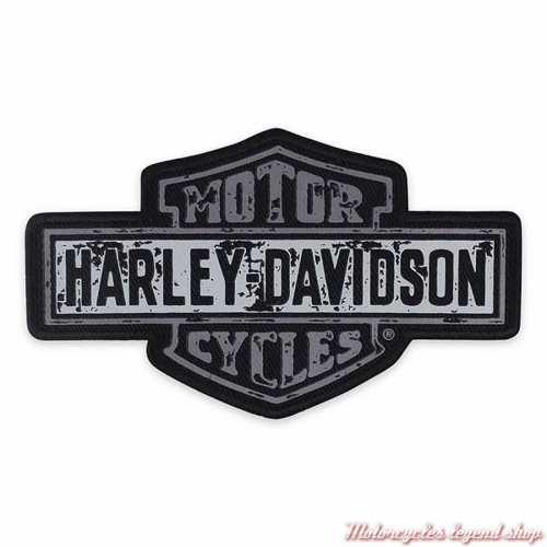 Patch Premium Harley-Davidson, Bar & Shield, noir, gris, sérigraphié, à coudre, EM343802