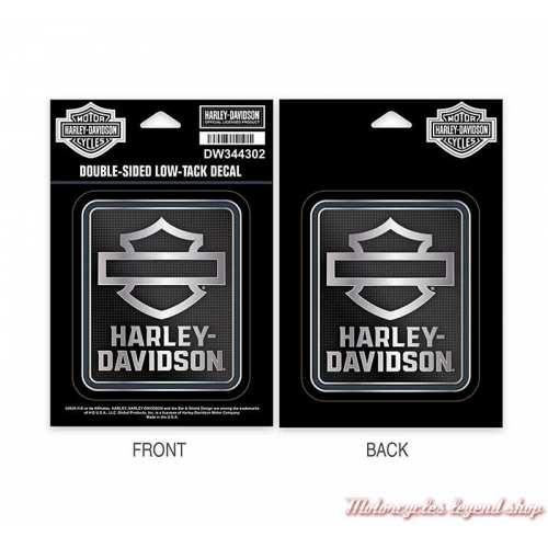 stickers de vitre Insignia Harley-Davidson léger adhésif, double face, DW344302