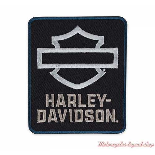 Patch Insignia Harley-Davidson, noir, blanc, brodé, à coudre, EM344301