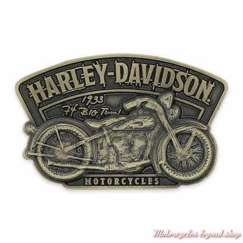 Pin's Timeline Harley-Davidson, moto, metal antique laiton, P345263
