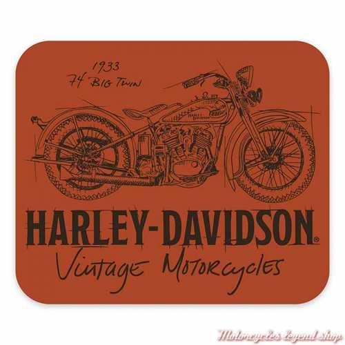 Tapis de souris Timeline Harley-Davidson, néoprène, orange, MO34538