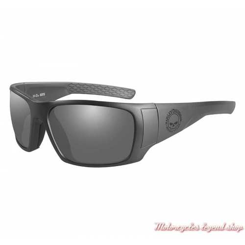 Lunettes solaire Keys Harley-Davidson skull, gris mat, verres gris, HAKYS01