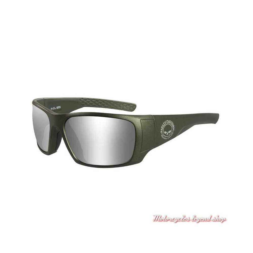 Lunettes solaire Keys Harley-Davidson skull, kaki mat, verres gris, HAKYS02