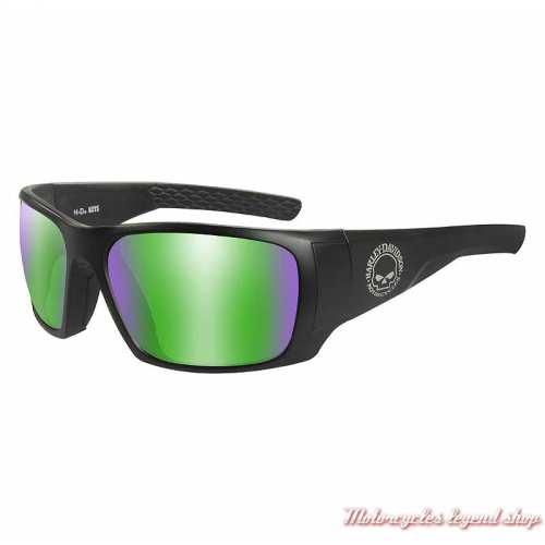 Lunettes solaire Keys black mat Harley-Davidson, noir mat, miroir vert, HAKYS10