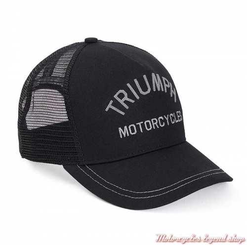 Casquette Coast Triumph, noir, arrière filet, réglable, MCAS20313