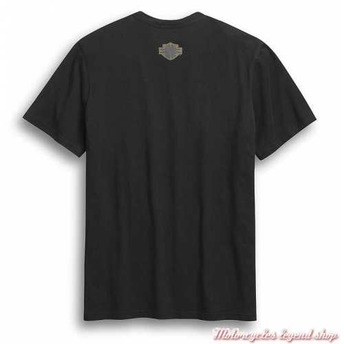 Tee-shirt Skull Wing Harley-Davidson homme, noir, manches courtes, coton, dos, 96307-20VM