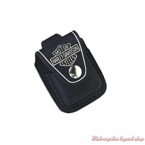 Etui Zippo Harley-Davidson, cuir noir, passant ceinture 60001255