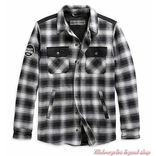Chemise Arterial Harley-Davidson homme, noir, blanc, résistant abrasion, homologué CE, sans protection, 98147-20EM