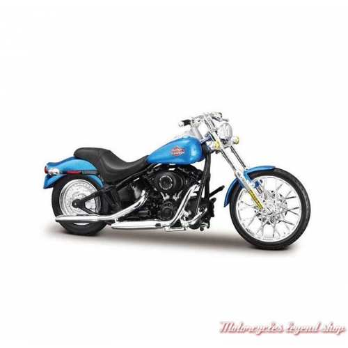 Miniature FXSTB Night Train 2002 bleu Harley-Davidson, Maisto, echelle 1/18