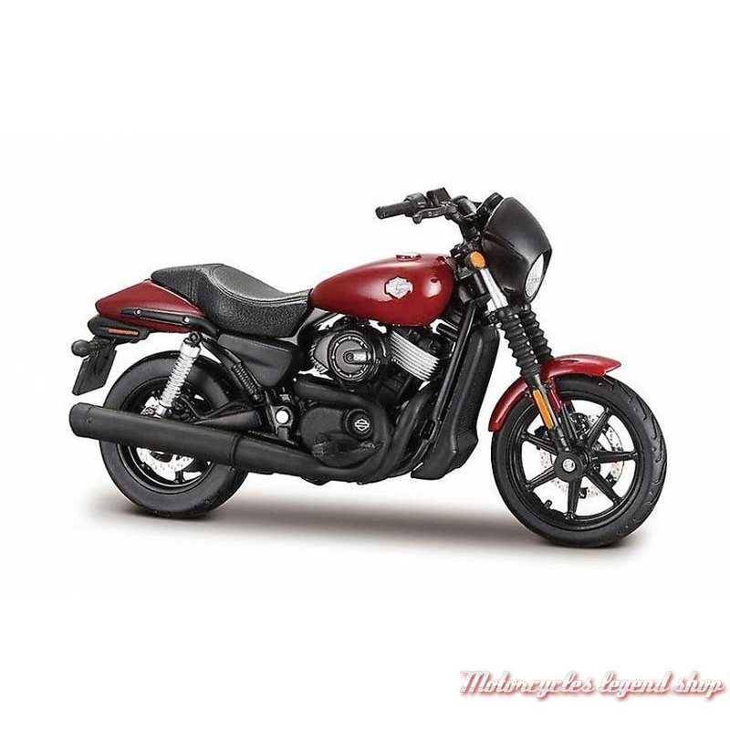 Miniature Street 750 2015 rouge Harley-Davidson, Maisto, echelle 1/18