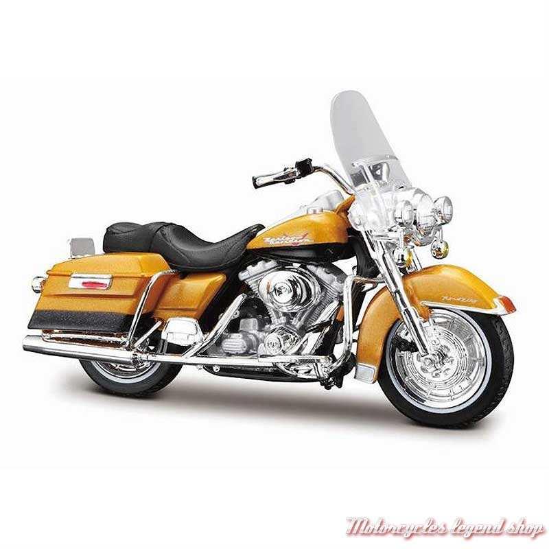 Miniature FLHR Road King 1999 orange Harley-Davidson, Maisto, echelle 1/18