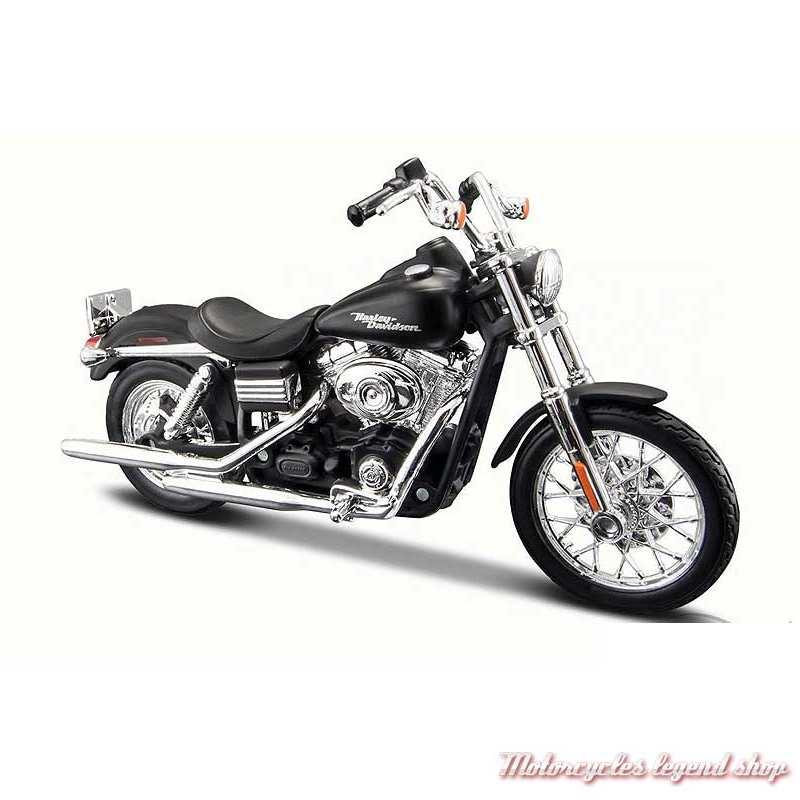 Miniature Dyna Street Bob 2006 noir Harley-Davidson, Maisto, echelle 1/18