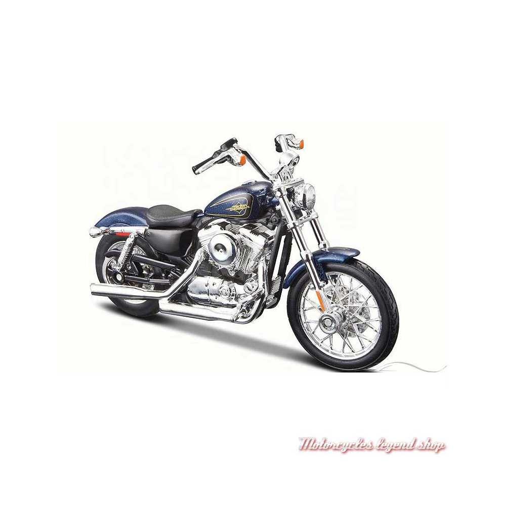 Miniature XL 1200V Seventy-Two bleu Harley-Davidson, Maisto, echelle 1/18