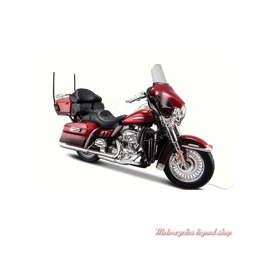 Miniature FLHTK Electra Glide Ultra Limited 2013 rouge Harley-Davidson, Maisto, echelle 1/18