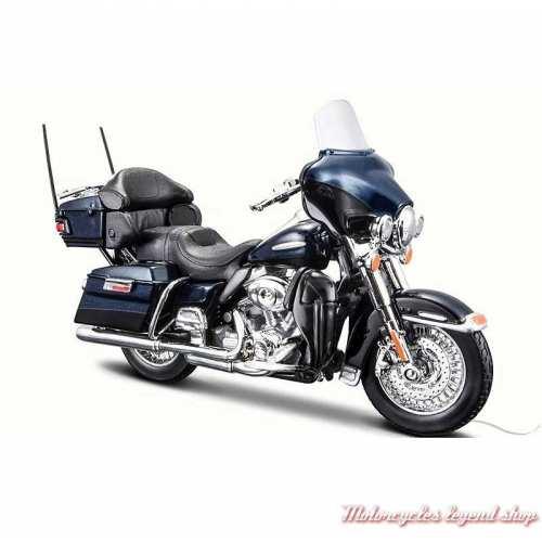 Miniature FLHTK Electra Glide Ultra Limited bleu 2013 Harley-Davidson, Maisto, echelle 1/18