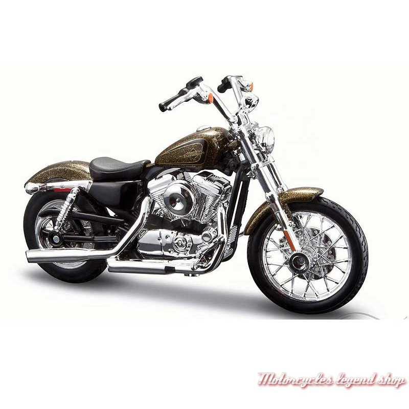 Miniature XL1200V Seventy-Two marron 2013 Harley-Davidson, Maisto, echelle 1/18