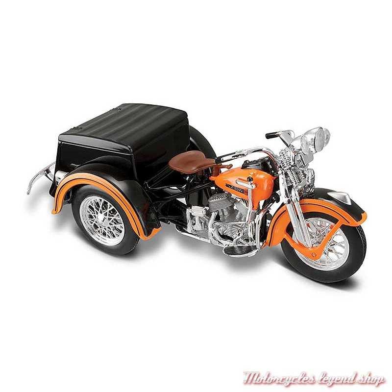 Miniature Servi-Car 1947 Harley-Davidson orange, Maisto, echelle 1/18