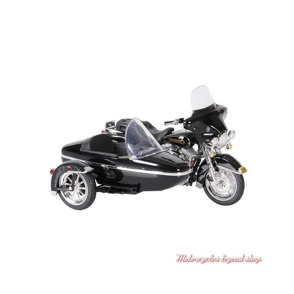 Miniature Electra Glide Standard 1998 Harley-Davidson Side Car, noir, Maisto, echelle 1/18
