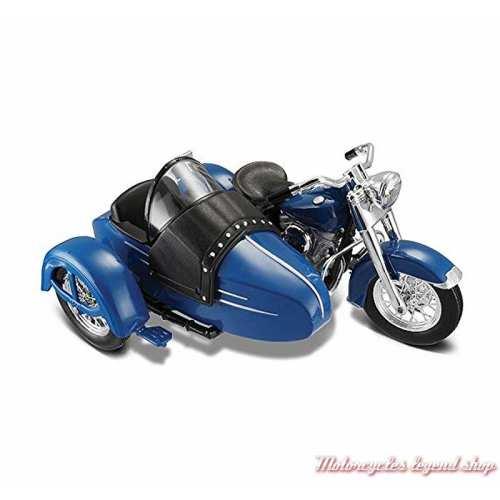 Miniature FL Hydra Glide 1952 Side Car Harley-Davidson, bleu, Maisto, echelle 1/18