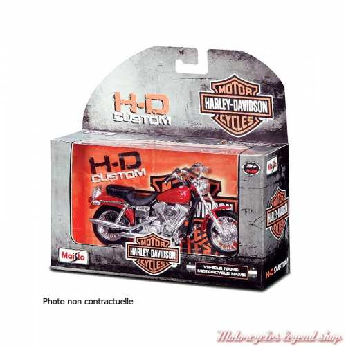 Miniature FLH Duo Glide 1958 Candy Apple Red Harley-Davidson, Maisto, echelle 1/18, boite