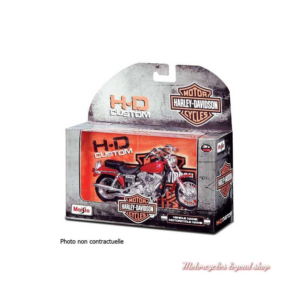 Miniature FXDWG Dyna Wide Glide 2001 bleu Harley-Davidson, Maisto, echelle 1/18, boite