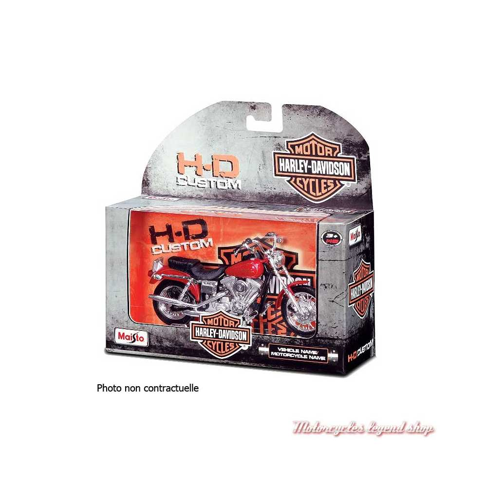 Miniature FLHR Road King 1999 orange Harley-Davidson, Maisto, echelle 1/18, boite