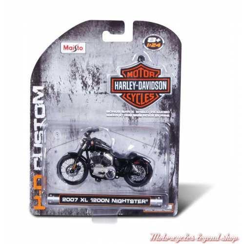 Miniature XL 1200N Nightster 2007 Harley-Davidson, noir, echelle 1/24, boite