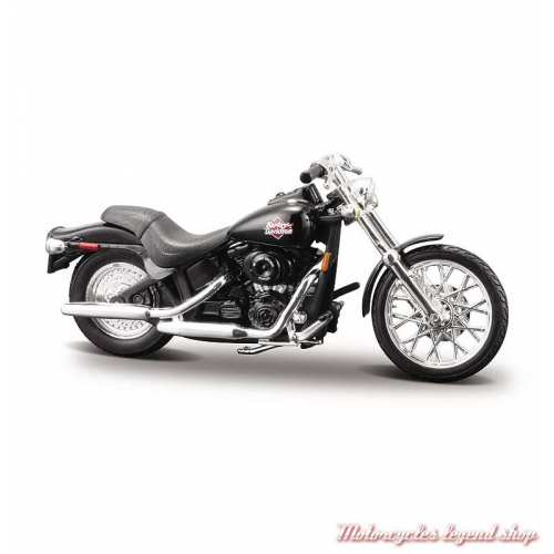 Miniature FXSTB Night Train 2002 Harley-Davidson, noir, echelle 1/24