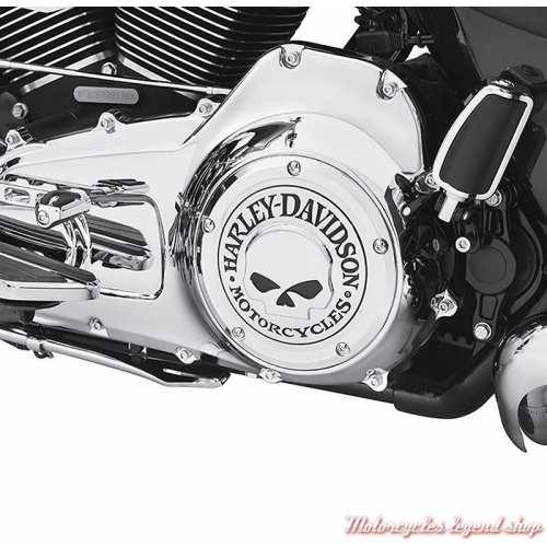 Trappe d'embrayage Skull chrome Harley-Davidson, visuel 25700469