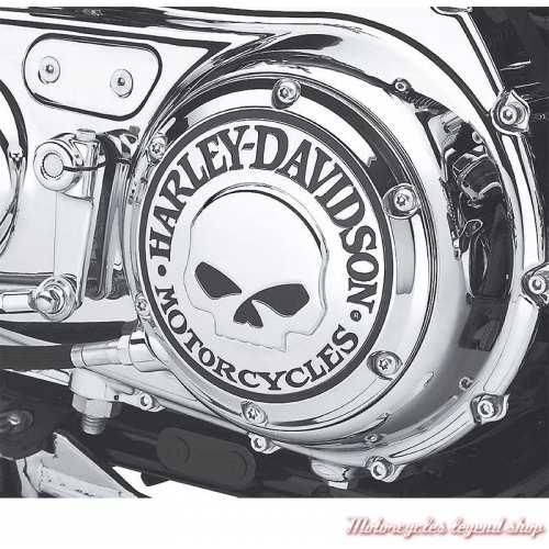 Trappe d'embrayage Skull chrome Harley-Davidson, visuel 25440-04A