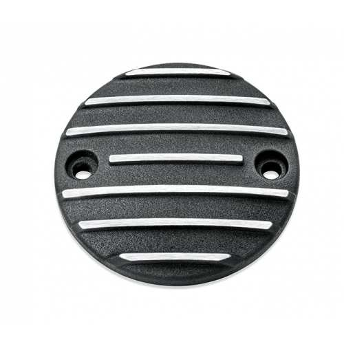 Cache carter de distribution Black Fin Harley-Davidson noir, 25600142