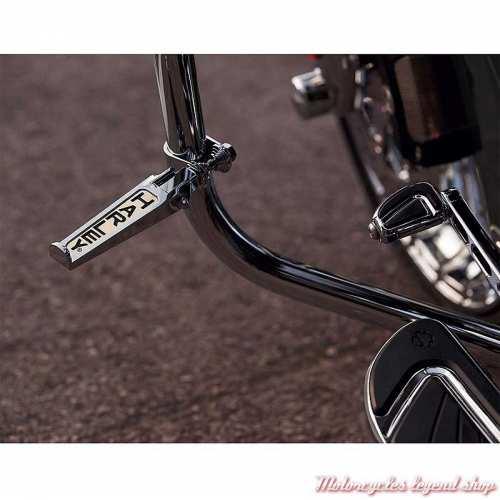 Repose-pieds Script Harley montés sur pare-jambe Harley-Davidson, chrome, visuel, 49102-86T