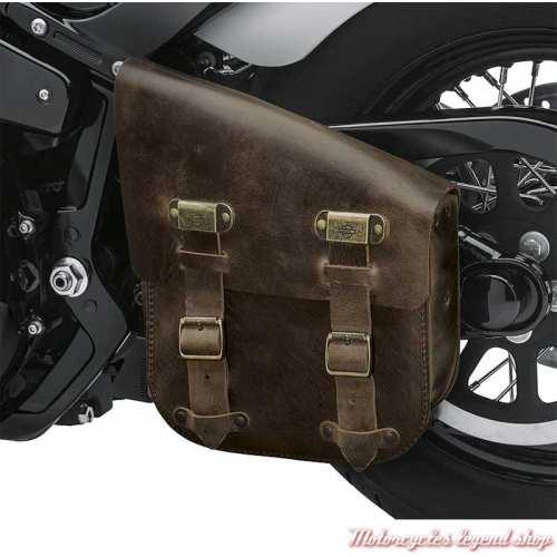 Sac de bras oscillant d'un seul côté Harley-Davidson brun vieilli pour Softail, visuel, 90201568