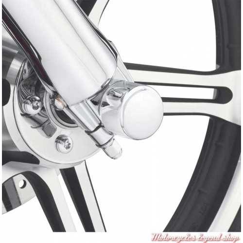 Caches écrous axes de roue avant Harley-Davidson, chrome moulé, visuel, 44117-07A
