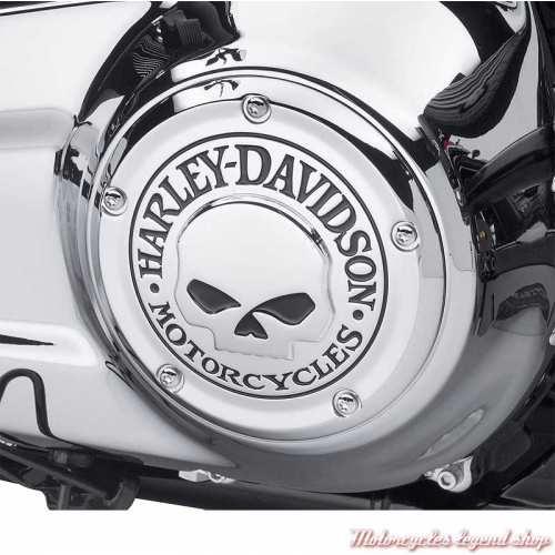 Trappe d'embrayage Skull chrome Harley-Davidson, visuel, 25700958